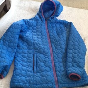 Land's End girls insulated hooded jacket like new